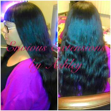 Full Weave with no Hair Left Out. Using Hand Tied Wefts.