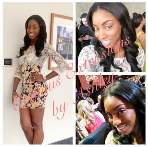 Our Doll was Visiting Los Angeles for the People Choice Awards, and called us to instal this Fabulous Full Weave Install!