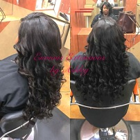 Full Weave with Lace Closure with Glam Curls DIva Package Installed by Ashley