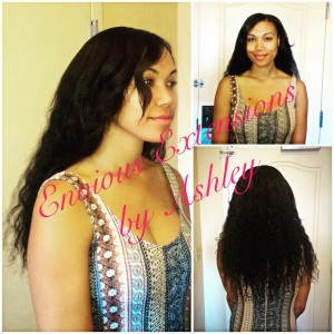 Our Doll was visiting Las Vegas For A Music Festival, and called us to instal this Fabulous Full Weave Install!
