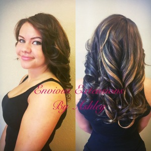 Full Weave with Minimal Leave Out by Ashley of Envious Extentions Posare Lake Mead Las Vegas